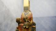 改修で見つかったマリア像が作品に