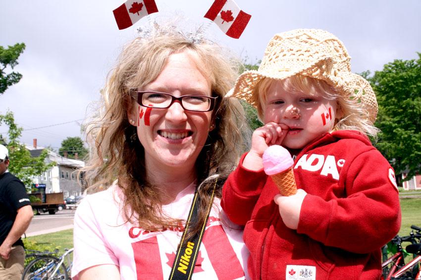 2011年のカナダデーにコヤナギが撮った写真