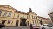 市庁舎の裏手