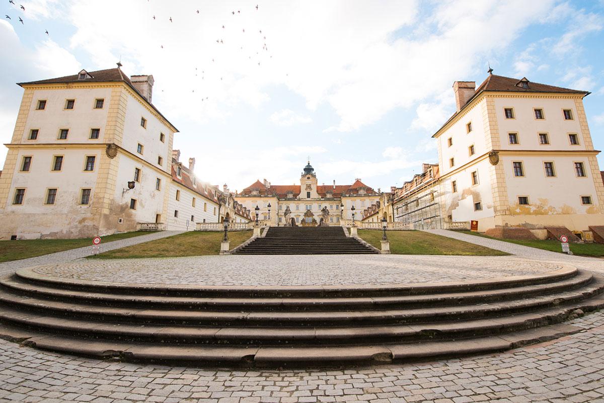 リヒテンシュタイン家の居城だったヴァルチツェ城
