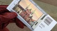 プラハ城そのものは入場無料だが教会などへの入場はチケットが必要だ。絵柄はランダム
