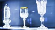 法王が飲むためにつくられたボヘミアンガラスのビールグラス