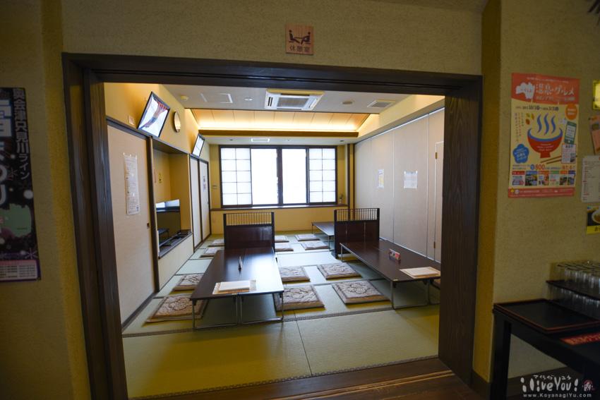 1階のレストランは和室