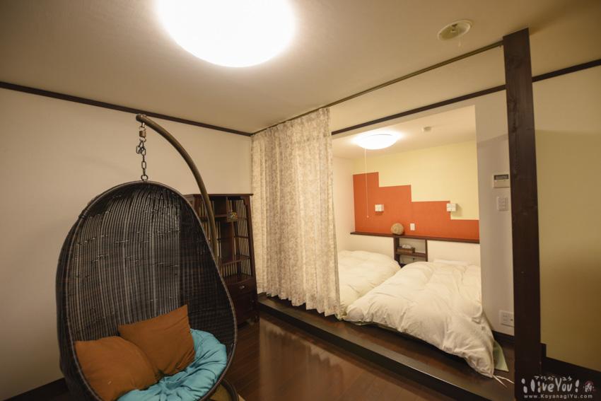 コヤナギが泊まった寝室部分
